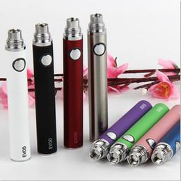 Wholesale Evod Ecigs - Ecigs EVOD Vape battery Pen 510 Thread For MT3 CE4 CE5 Vaporizer Atomizer Tank vape pens Electronic Cigarettes E Cig Pens DHL