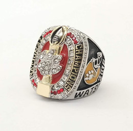 Wholesale Tiger Ring Band - Free shipping New Arrival 2016 Clemson Tigers championship rings cheap NCAA Football champions ring for men