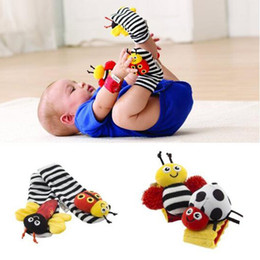 Wholesale Lamaze Bee Toy - lamaze sock baby rattle baby toys Lamaze Garden Bug Wrist Rattle and Foot Socks Bee Plush toy toddler Infant toys G157