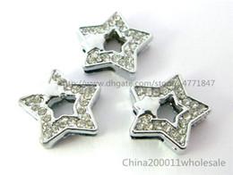 Wholesale Pet Stars - 10pcs 8mm Star with star Slide charms SL179 Fit DIY Name Bracelets  Necklace Name Pet collar Key chain  (Fit8mm wide belt)