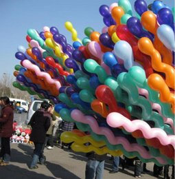 Wholesale Cheap Ballons - Hottest Cheap 10Pcs Lot Colorful Long Spiral Latex Screw Balloons Festival Party Decoration Childern Ballons Y0013