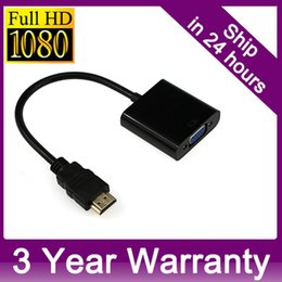 Wholesale Cables For Pc - HDMI to VGA Cable HDMI to VGA Adapter 1080p HDMI to VGA Converter For PC TV Xbox 360 PS3