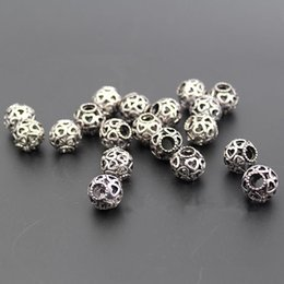 Wholesale Alloy Charms Spacer - Loose Gemstone Beads Silver Spacer Beads Pandora Style Charms Skull Beads 925 Sterling Silver Openwork Heart Bead Jewelry Bracelets