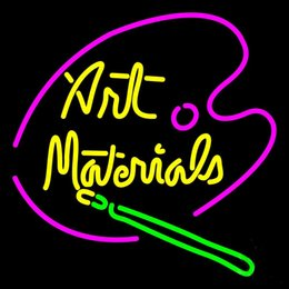 """Wholesale Materials Companies - Art Material Neon Sign Customized Handmade Real Glass Tube Store Shop Market Company Advertisement Display Neon Signs 16""""x16"""""""