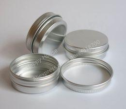Wholesale Metal Ship Containers - Free Shipping - 30pcs lot 30G Aluminum Jar, 1oz metal Cosmetic Packaging Container,30cc professional cosmetics container