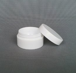 Wholesale Bamboo Picnic - Wholesale- Free Shipping 15g white Plastic Jars Cosmetic Cream Empty Lotion Batom Container Sample Picnic Spice Packaging Bottles