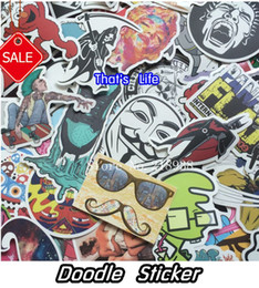 Wholesale Bicycle Vinyl - New style vinyl stickers for car sticker decal bicycle laptop sticker on car styling sticker bomb doodle motorcycle accessories