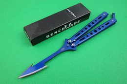 Wholesale Hunting Arrow - butterfly benchmade black arrow jilt Free-swinging survival hunting gift knife outdoor camping knives xmas gift for man 1pcs freeshipping