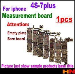 Wholesale apple board - 1pcs For iphone 4s 5 5c 5s 6 6 plus 6s 6s plus 7 7plus motherboard line measurement board empty board bare board