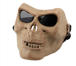 Wholesale Zombies Props - Zombie Skeleton Skull Bone full Face death Masks for survival war game Movie Prop walking Safe Dead Cosplay Party outdoor field