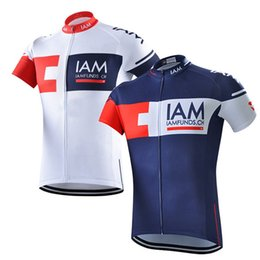 Wholesale Iam Cycling - IAM cycling jersey short sleeve shirt mtb bike maillot ropa ciclismo hombre summer quick-dry men Tour de France cycling clothing C0209