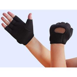 Wholesale Wristband Fingerless Gloves Wholesale - 12pairs lot Unisex Fingerless Sports Gloves Breathable Antiskidding Wristbands Cycling Climbing Necessity os725