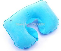 Wholesale Cooler Seat Cushion - 1000pcs lot U Shape Travel  Office Home Pillow Inflatable Neck Cushion inflateable pillow