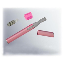 Wholesale Cheap Wholesale Trimmings - Cheap Portable Electric Eyebrow Hair Trimmer Blade Razor Shaver Remover Face Arms Legs Body Pink Shaver for Ladies Eyebrow Shaper Epilator