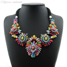Wholesale Chunky Rhinestone Choker - Wholesale New Luxury Crystal Necklace Fashion Shourouk Collares Rope Chunky Choker Statement Necklaces & Pendants For Women