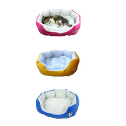 Wholesale Design Dog House - Free Shipping Comfortable Winter Warm Pet Nest House Soft Pets Sleeping Beds Footprints Design Style Dog Cat Bed Travel Gift