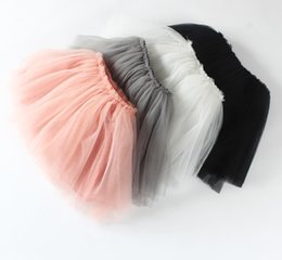 Wholesale Wholesale Candy Dress - Autumn 5 colors Top Quality candy color kids tutus skirt dance dresses soft tutu dress 3layers children skirt clothes skirt princess