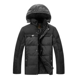 Wholesale Clearance Long Down Coat - Fall-Middle-aged men Down Down genuine clearance elderly father installed thicker winter coat and long sections