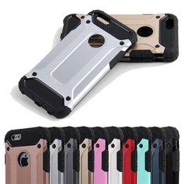 Wholesale Iphone Dust Covers - For iPhone 7 6S 6 6Plus Plus Armor Shockproof Tech Slim with Dust Plug Hybrid 2in1 Hard Case Cover For iPhone6 i6+ plus