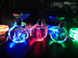 Wholesale League Legends Crystal Keychain - Wholesale-New LOL Key Ring League Of Legends All-Star Crystal Flash LED Light Keychain WITH BATTERY & GIFT BOX