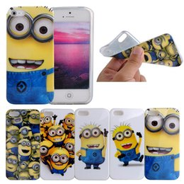 Wholesale Despicable Tpu Phone Case - Wholesale-Cute Cartoon Despicable me Minions TPU Phone Cases for iPhone 5S Mobile Phone Bags Cases Soft skin Cover For iphone 5s case