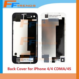 Wholesale 4g Flash - Back Glass Battery Housing Door Back Cover Replacement Part With Flash Diffuser for iPhone 4 4G 4 CDMA 4S Black White Wholesale Free Ship