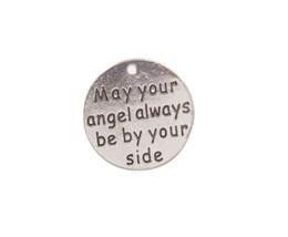 Nuevo llega 10PCS Antiqued Silver Que tu ángel siempre esté a tu lado. Encantos de metal # 92008 desde fabricantes