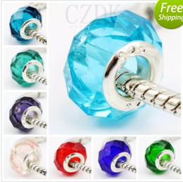 Wholesale Fascinating Holidays - BELAWANG Wholesale Fashion Silver Plated Screw Fascinating Faceted Murano Glass Beads Fit Pandora Jewelry Charm Bracelets Free Shipping
