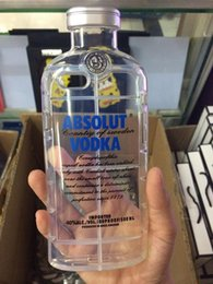 Wholesale Beer Cover Iphone - ABSOLUT VODKA Wine Beer Bottle TPU Soft Clear 3D Transparent Crystal Shockproof case cover For iphone 6 Plus 6G 4.7 5.5 i6 5 5G 5S skin 5pcs