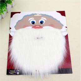 Natale Santa Bianco Fake Barba Baffi baffi Unisex Fancy Dress Xmas Cosplay Party Puntelli di scena da