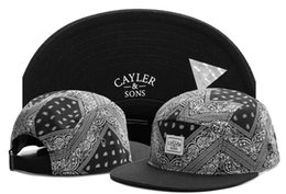 Wholesale basketball strapback - 500 styles Cayler & Sons 5 panel strapback Baseball football basketball hat mitchell&ness sports teams snapback hats adjustable cap TYMY 262