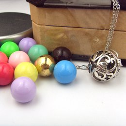 Wholesale Harmony Ball Cage - 925 Silver Cage For 15mm Ball Pregnancy Angel Caller Necklace Harmony Bola Ball Pregnant Belly Ball Necklace