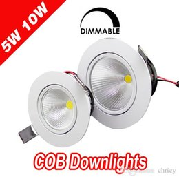 Wholesale Bathroom Projects - Super bright AC110-240V LED Dimmable recessed downlight with Epistar chip hotel restuarent office spot light LED COB down light project LED