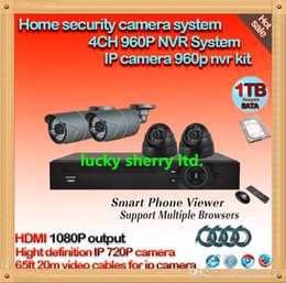 Wholesale Hard Disk Camera Security System - CIA- POE Security 4CH NVR System H.264 Full HD Waterproof IR Network IP Camera+ 4 pcs waterpoof cameras,1tb seagate hard disk