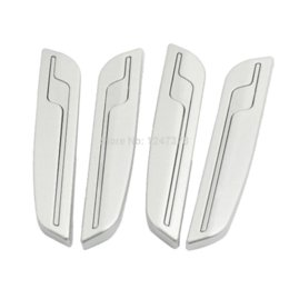 Wholesale Car Door Edge Guards Silver - 4 Pcs lot Auto Car Side Door Edge Trim Guard Sticker Decoration Silver Tone Discount 50 11.3 x 2.2 x 0.6cm (L*W*T)