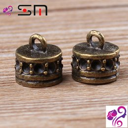 Wholesale Antique Brass End Caps - 11mm DIY alloy jewelry findings beading accessories wholesale Zakka antique bronze metal bead caps, vintage brass cord end caps
