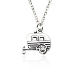 Wholesale Bus Slides - Vintage Car Bus Pendant Necklace Hip Hop Punk Carriage Necklaces & Pendants 2017 Fashion Women Jewelry Factory Wholesale