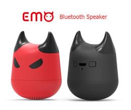Wholesale Mini Usb Button Camera - Emo Bluetooth Speakers Portables Mini Speakers Wireless Evil spirit Mini Bluetooth Speaker Car Handsfree Receive Call Camera MP3 Music