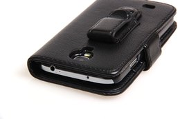 Wholesale Galaxy S3 Mini Covers - Belt Clips Holster Flip Wallet leather case card cover For Samsung Galaxy S3 S4 mini S5 S7 edge Note3 Note4 Iphone 6 Plus HTC One2 M8 1pcs