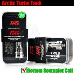 Wholesale Top Ecig Tanks - Original Arctic Turbo Tank Horizon sextuple coil Sub Ohm Top Turbine Mods vapor RDA v SMOK TFV4 mini uwell crown ecig Vaporizer atomizer
