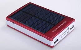 Wholesale Tablet Solar Ipad - NEW 30000mah 2.0 solar charger including iPad, iPhone, iPod, Samsung Galaxy tablets and phones