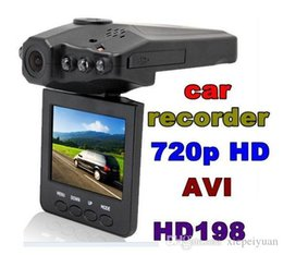 "Wholesale Gps Voice Recorder - H198 HD Car DVR Camera Blackbox 2.5"" Vehicle Video Voice Recorder Cam 6 IR LED Night Video"