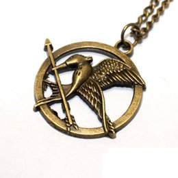 Wholesale Hunger Games Wholesale - Free DHL The Hunger Games Necklaces Inspired Mockingjay And Arrow Pendant Necklace Authentic Prop imitation Jewelry Movie The Hunger Game ZJ