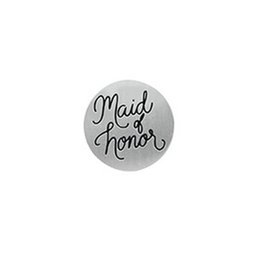 Wholesale Charms For Origami Owl - Maid of Honor Wedding Back Plate, Backplate for Floating, Memory, and Living, or Origami Owl Locket Necklace Jewelry