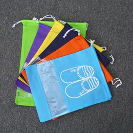 Wholesale New Stock Shoes - New Non woven sack with rope storage bag multiple colours for shoe   clothes dust proof IC897
