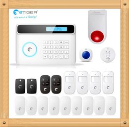 Wholesale Gsm Home Alarm System G5 - 2015 Newest eTIGER S4 Set Wireless GSM Alarm System 433Mhz Home Security Protection Compatible Chuango G5 GSM SMS DIY Kit