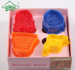 Wholesale Star Shaped Mold - Star Wars Darth Vader Yoda figure Shaped Spring Cookies Mold Cake Mold Baking Pastry Dough Decorating Mould