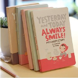Wholesale Girl Notebooks - Cute Notebook Red hat girl Agenda week plan Diary Day planner journal record stationery office School supplies