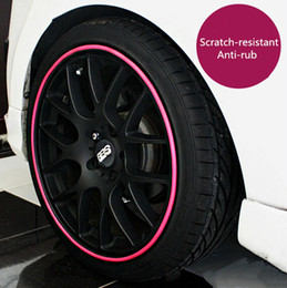 Carro modificado on-line-Protective Ring For Car Wheels Coiler Modified Wheel Protection Tire Rims Trim Scuff Scratch Crash Protection Bars