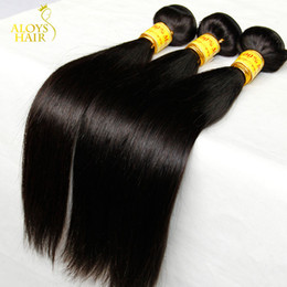 malaysian products Promo Codes - Cheap Malaysian Straight Virgin Hair Unprocessed Human Hair Weave Bundles Malaysian Straight Remy Extensions Landot Hair Products
